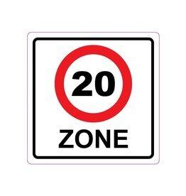 20 km area Sticker E10(A1-20)