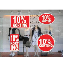 Set 10% reduction stickers (4 stickers)