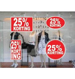 set 25% sale stickers (4 stickers)