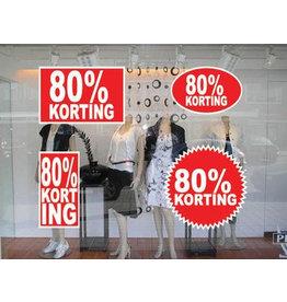 set 80% sale stickers (4 stickers)