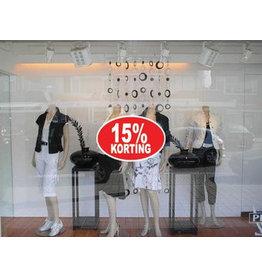 Oval 15% sale Sticker