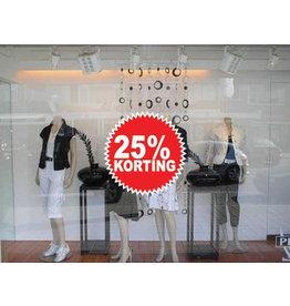 Circular 25% sale Sticker