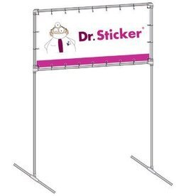 bannerframe including banner 100 cm x 100 cm