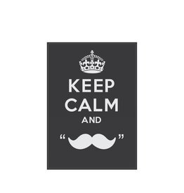 Keep calm and grow a moustache Sticker