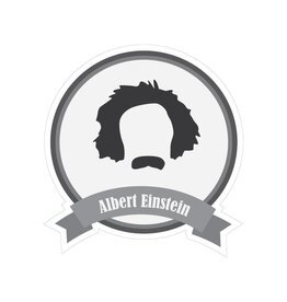 Famous moustaches Einstein Sticker