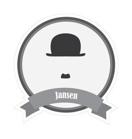 Famous moustaches Jansen Sticker