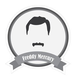 Famous moustaches Mercury Sticker