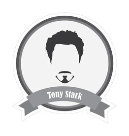 Famous moustaches Stark Sticker