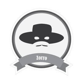 Famous moustaches Zorro sticker
