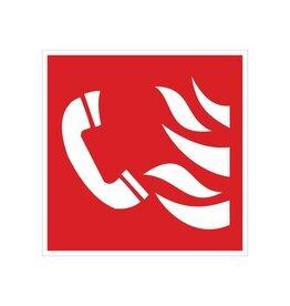 Telephone for Fire Alarm sticker