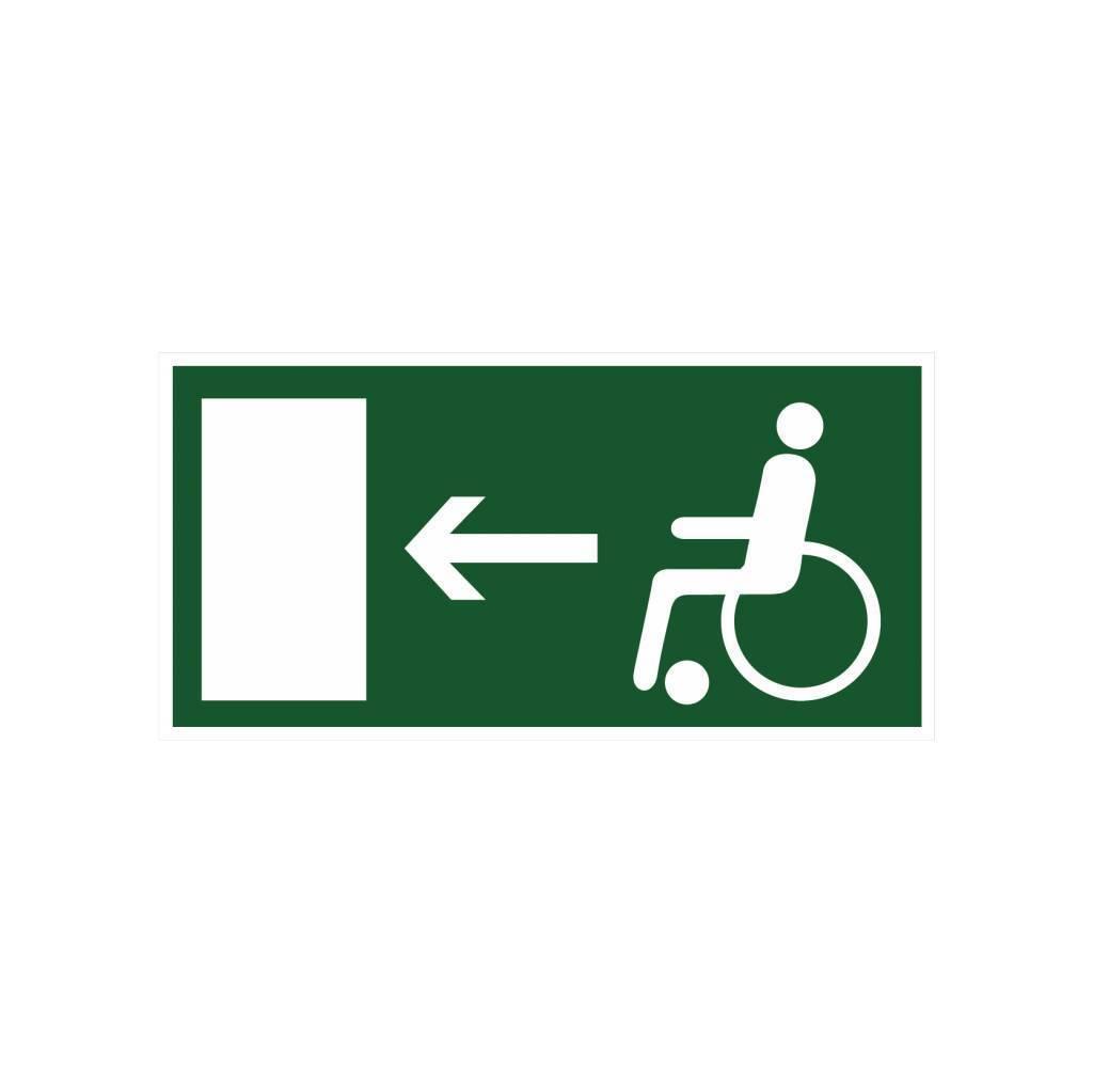 Escape route for disabled left sticker
