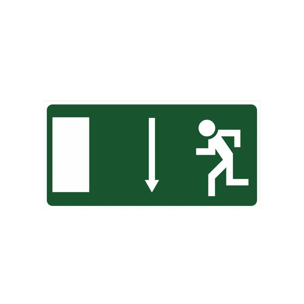 Emergency Exit 3 sticker