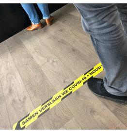 Floor line sticker keep distance 1.5 Meter (Top quality)
