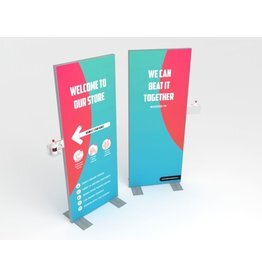 Disinfection display 80 x 200 cm Welcome