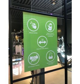 Easydot Wit Sticker 60 x 85 cm RIVM rules