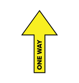 Floor sticker arrow One Way