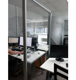 Prevention freestanding partition wall transparent