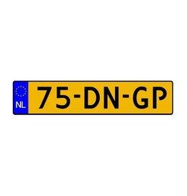Dutch licence plate sticker