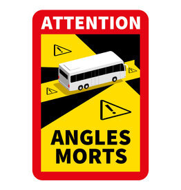 Blind Spot Bus Sticker (17 x 25 cm) (Price = incl. VAT)