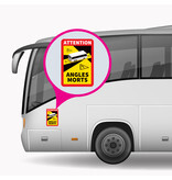 Blind spot - Attention Angles Morts Bus Sticker (17 x 25 cm) (Price = incl. VAT)