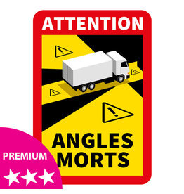 Blind spot - Truck PREMIUM Sticker (17 x 25 cm)
