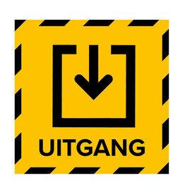 Metromark + Igepa vloerlaminaat Polling station floor sticker exit (15 x 15 CM)
